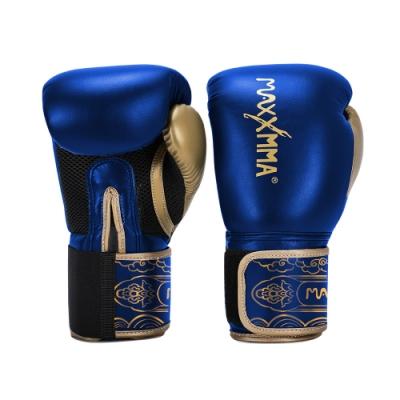 MaxxMMA 拳擊手套經典款-亮藍-散打/搏擊/MMA/格鬥/拳擊