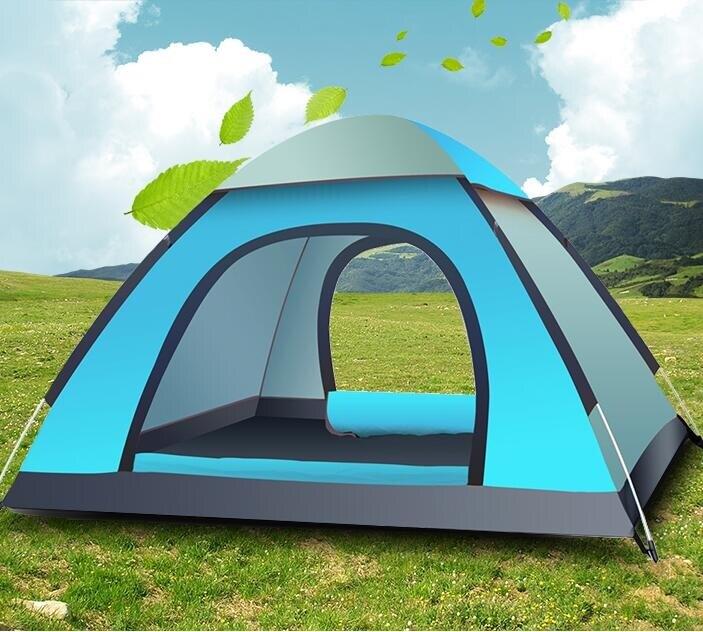 帳篷 戶外3-4人全自動加厚防雨賬蓬2人雙人野外野營露營帳篷套餐jy【快速出貨八折下殺】