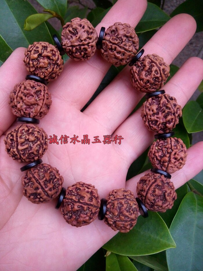 天然尼泊爾大金剛菩提子5瓣手鏈佛珠紅皮肉紋手鏈手串 1入