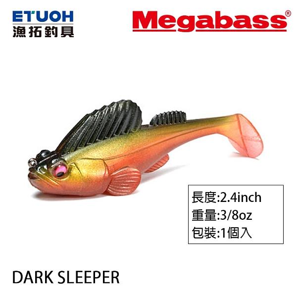 漁拓釣具 MEGABASS DARK SLEEPER 2.4吋 10g [彈塗魚]