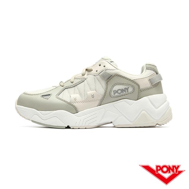 【PONY】MODERN 3系列 車線撞色 老爹鞋 電光鞋 女鞋-卡其色