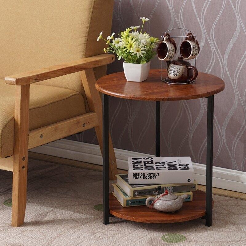 小圓茶几簡約現代迷你沙發邊几角几小戶型床頭桌咖啡桌創意儲物桌 七色堇 新年春節送禮