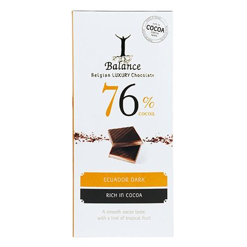 《倍樂思》76%厄瓜多醇黑巧克力85G【愛買】