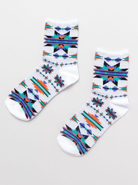偏心納瓦霍人圖案襪子23-25厘米