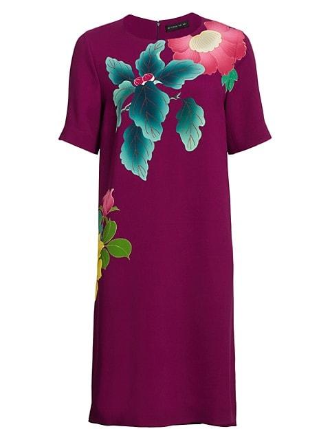 Japanese Floral T-Shirt Dress