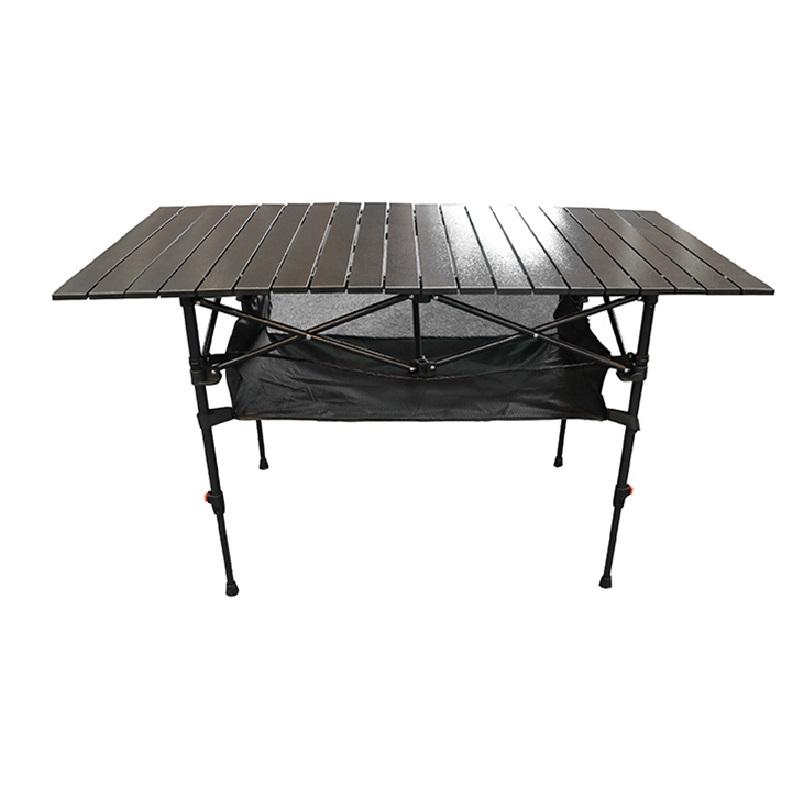 【露營用品】可調式加大黑鋁蛋捲桌