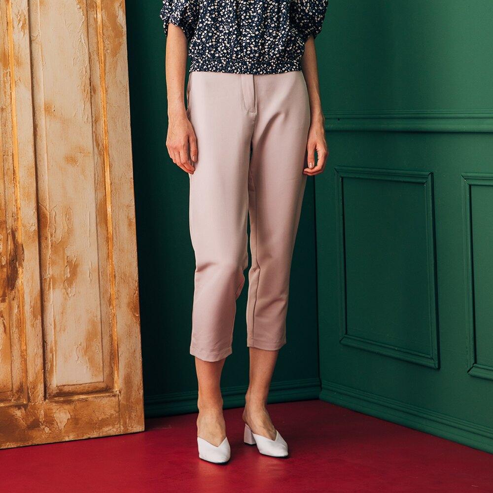 母親節全館$999免運 ▶【KiKi】造型腰帶西裝褲-長褲(二色/版型適中)