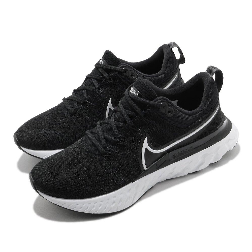 NIKE 慢跑鞋 React Infinity Run 女鞋 輕量 透氣 舒適 避震 路跑 運動 黑 白 [CT2423-002]