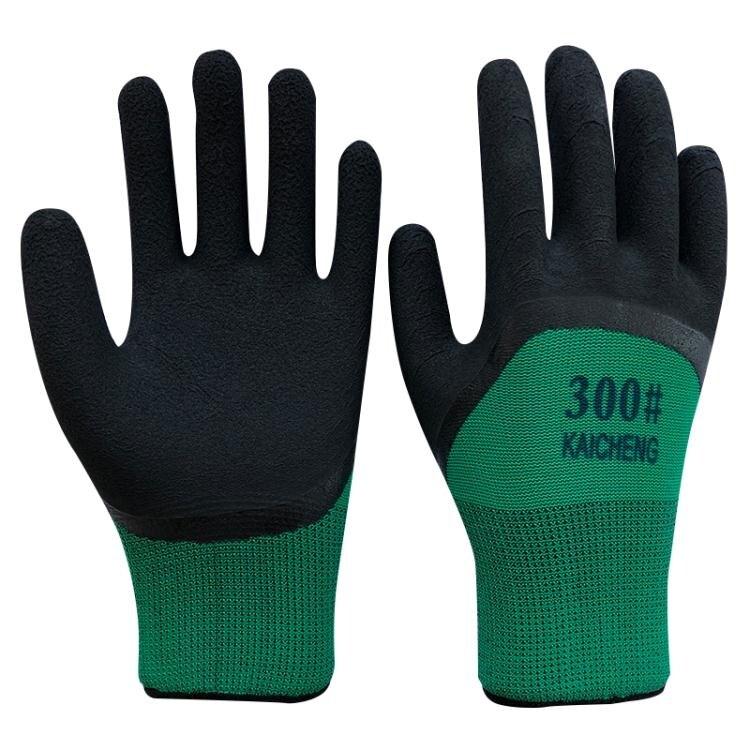 手套 12雙發泡王耐磨浸膠防護透氣王防滑掛膠帶膠工作勞保手套