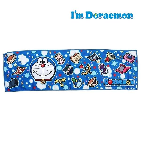 日本限定 哆啦a夢 百寶袋道具版 抗UV 接觸冷感 長版毛巾 20×70cm
