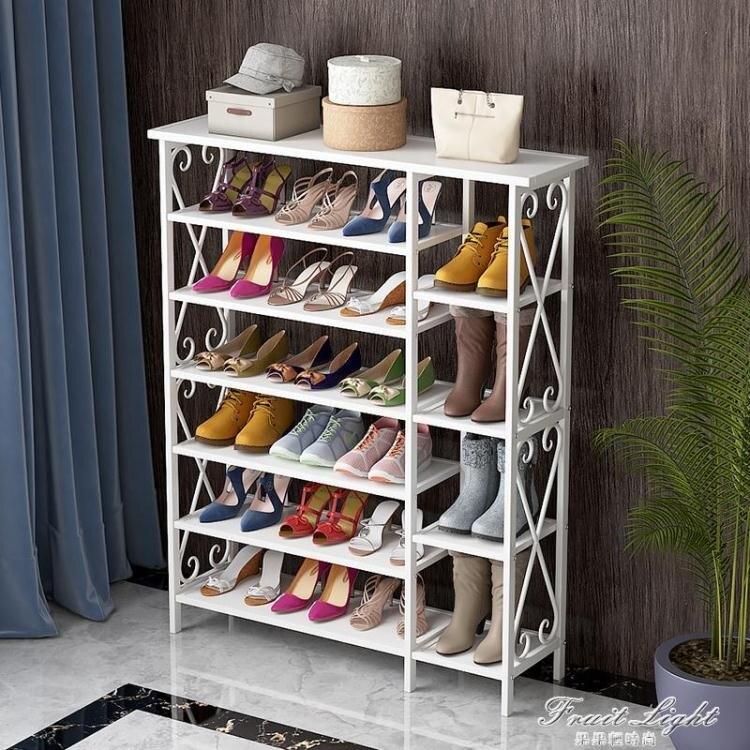 新年鉅惠85折~鞋架 簡易鞋架家用經濟型宿舍防塵鞋櫃省空間組裝家里人門口小鞋架-盛行華爾街