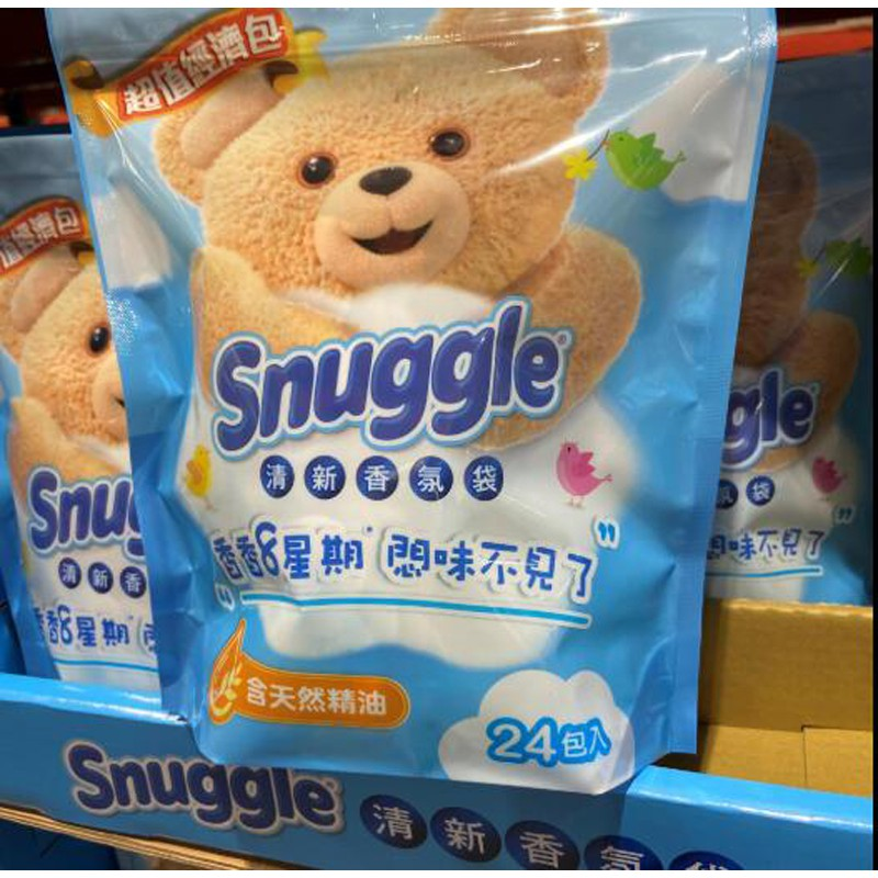 Snuggle 熊寶貝 清新香氛袋 清新晨露香 7公克 X 24入 C129806