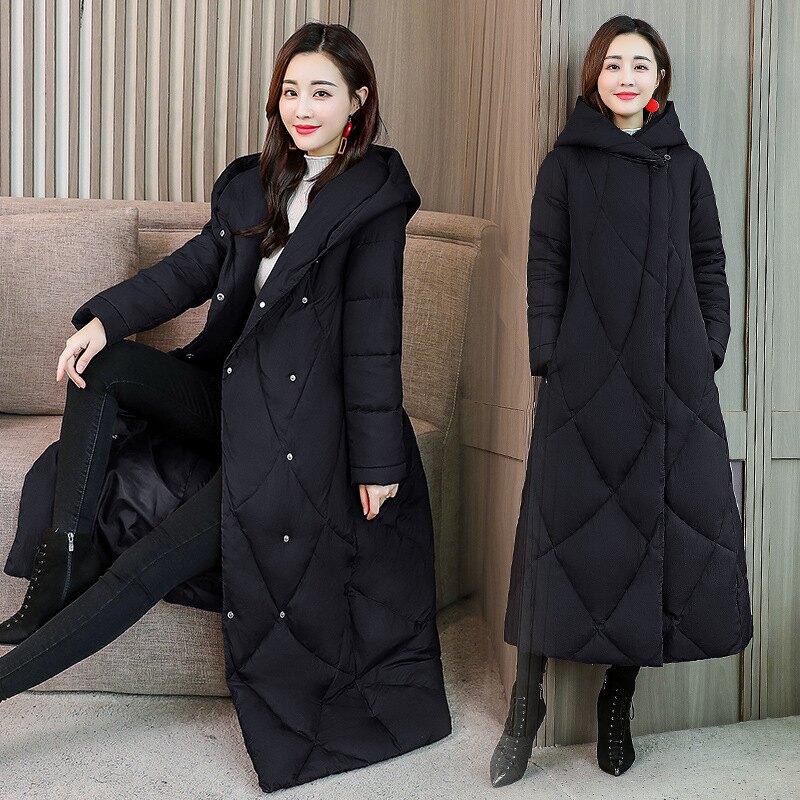 女長款棉衣棉服冬加厚保暖時尚簡約