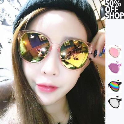 (現貨特價‧快速出貨)50%OFF SHOP【J022406GLS】2017新款韓版復古太陽眼鏡 潮流男女太陽眼鏡反光百搭墨鏡批發明星款