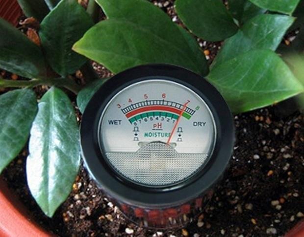 土壤pH酸堿度檢測儀水分濕度計 測土儀酸堿土地ph值測定儀測濕儀  萬聖節狂歡