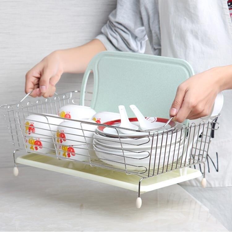 不銹鋼水槽瀝水架洗菜籃子瀝水籃碗碟盤收納架水池置物架廚房【全館免運】