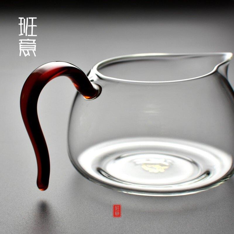 玻璃公道杯 公杯加厚耐熱大號茶海分茶器功夫 茶具配件1入