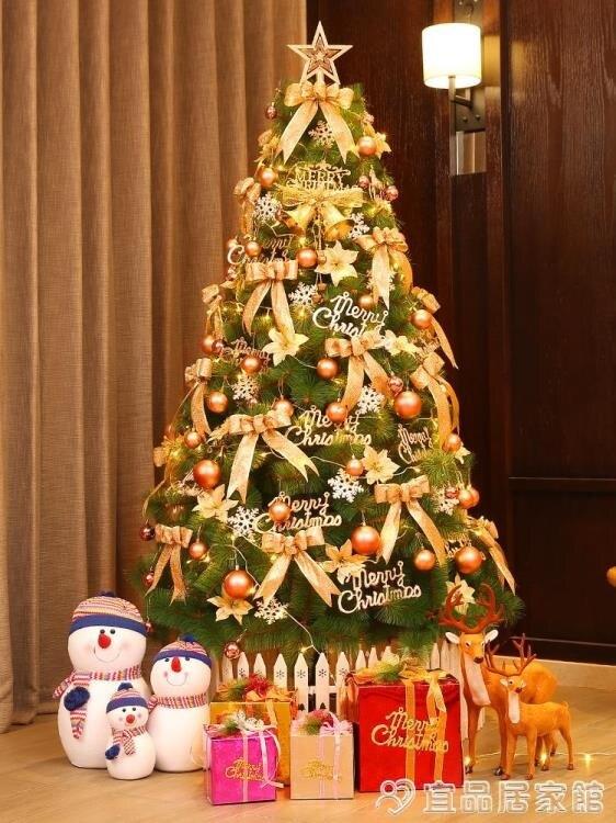 聖誕樹 圣誕樹裝飾擺件家用套餐1.5/1.8米松針加密3米大型圣誕節裝飾掛件 宜品