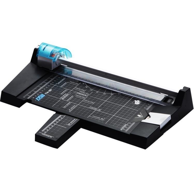 切紙機 DSB裁紙機迪士比TM-20多功能相片切紙器a4手動滾輪滑輪虛線壓痕機 宜品