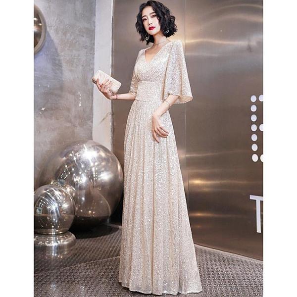 高端晚禮服女新款宴會氣質名媛平時可穿高貴大 朵拉朵