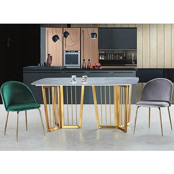 餐桌 PK-545-1 F805灰色岩石餐桌 (不含椅子)【大眾家居舘】