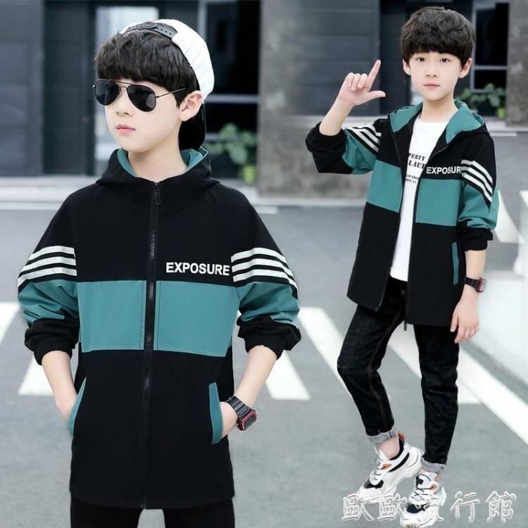 兒童外套 男童外套2020春款洋氣中大兒童男孩春秋裝帥氣韓版夾克中長款風衣 樂生活
