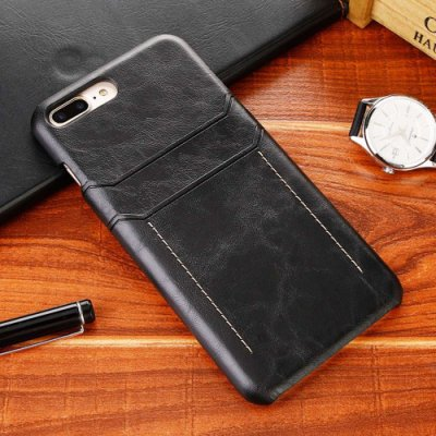 復古 蘋果 iPhone 7 8 Plus 手機殼 雙卡槽 插卡背殼 i7 I8 i7P i8P 保護殼 防摔 貼皮硬殼