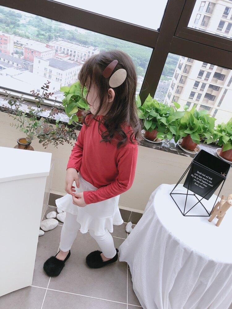 童裝2019春秋季新款 中小童寬松舒適打底衫 女童個性舒適高領T恤1入