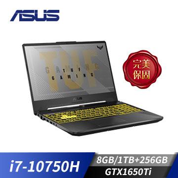 (福利品)ASUS華碩 TUF Gaming F15電競筆電(i7-10750H/GTX1650Ti/8GB/1TB+256GB)(FX506LI-0061A10750H)