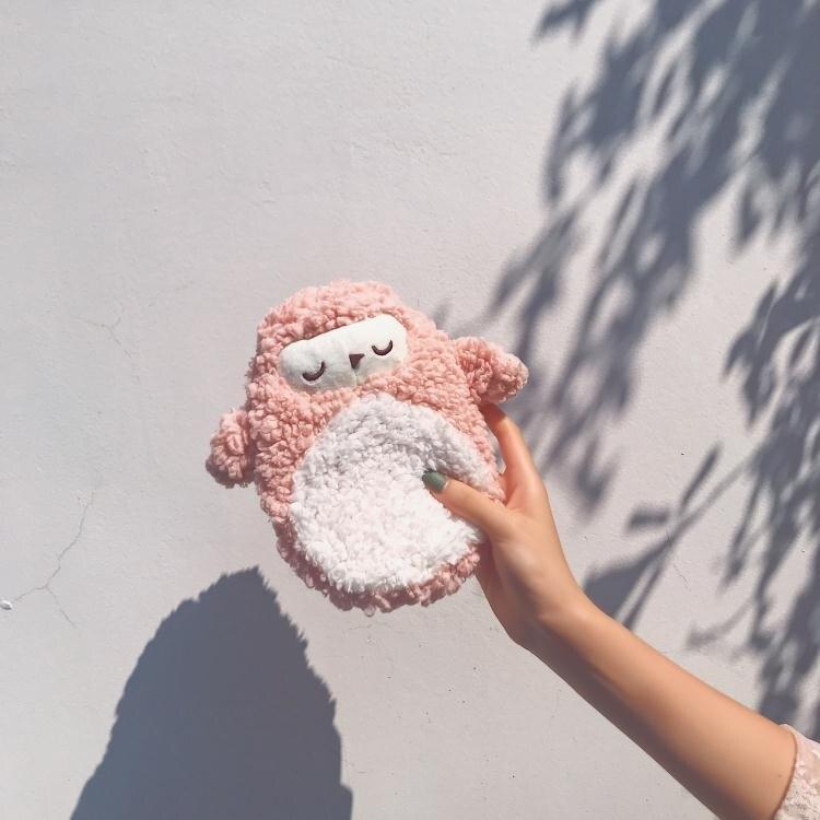 注水熱水袋 可愛熱水袋女注水毛絨學生隨身便攜小號迷你暖水袋灌水暖手寶卡通