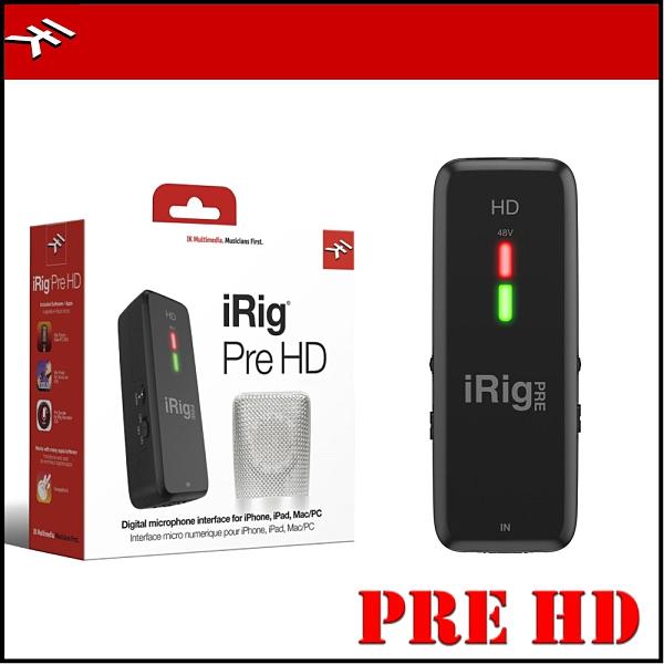 【非凡樂器】IK Multimedia iRig Pre HD 麥克風介面 可連接手機、電腦 Adroid 、IOS 皆可使用