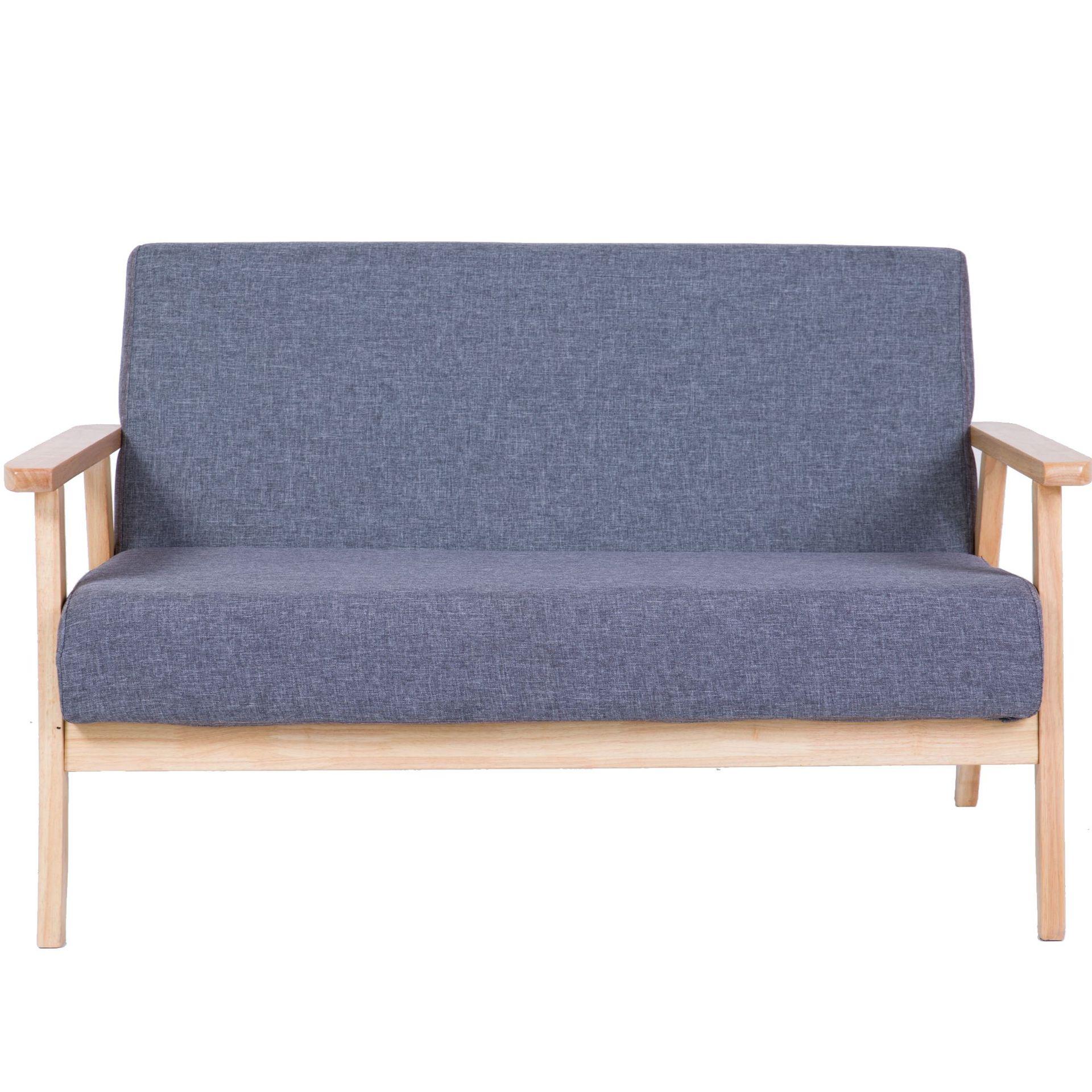 布藝單人雙人沙發休閑椅臥室客廳休閑椅現代北歐簡約時尚創意實木