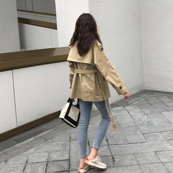 風衣加厚短款風衣年新款中長款小個子韓版英倫風春秋季外套女大衣 新年優惠