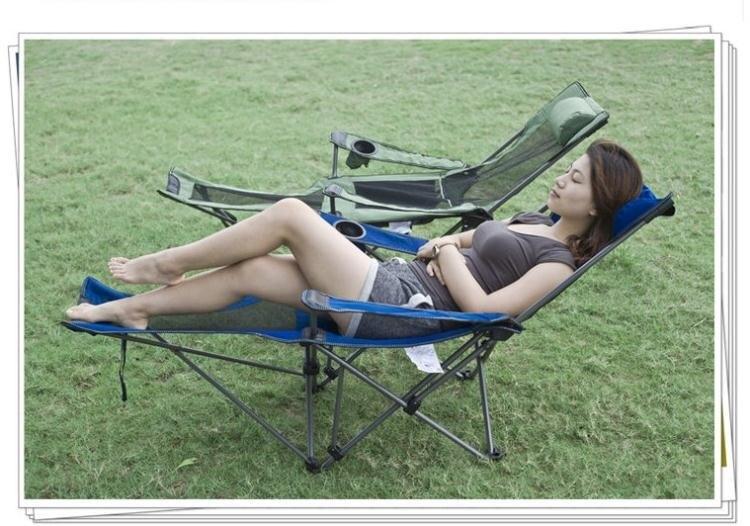 摺疊躺椅 戶外摺疊躺椅兩用午休床家用野外露營沙灘椅靠背釣魚 走心小賣場