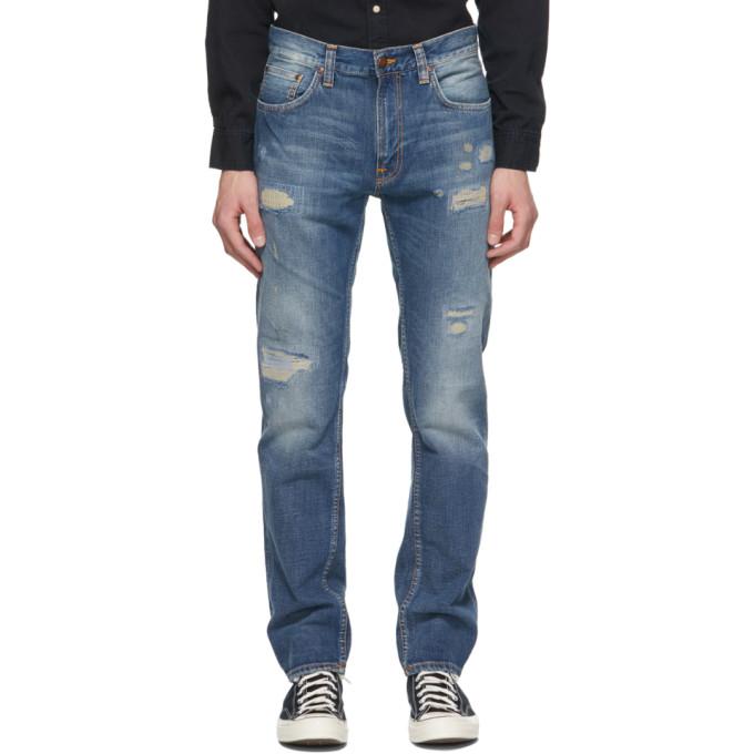 Nudie Jeans 蓝色 Gritty Jackson 牛仔裤