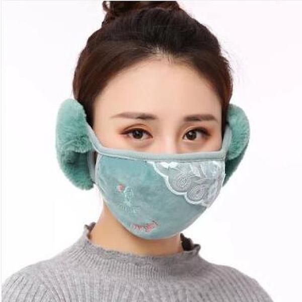 面罩 純棉護耳口罩女冬季保暖防寒面罩防凍男冬天戶外防風帶耳罩口罩女 維多原創