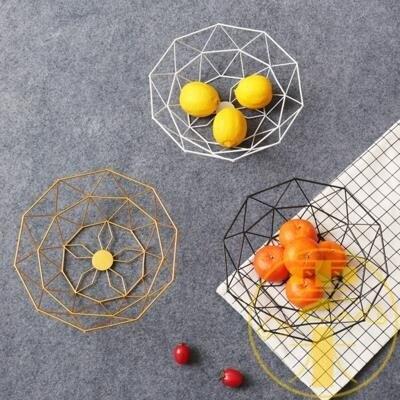 北歐風創意果盤家用客廳茶幾鐵藝水果籃果盆桌面收納