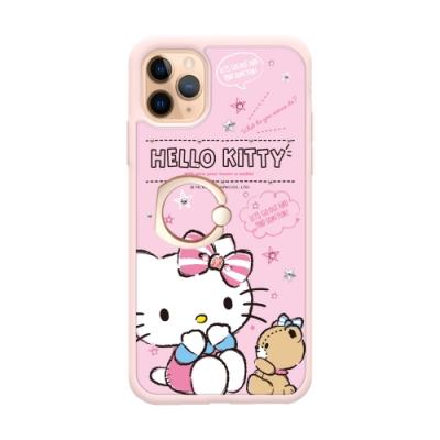 三麗鷗 Kitty iPhone 11 Pro 5.8吋施華彩鑽防摔指環扣手機殼-凱蒂閒時光