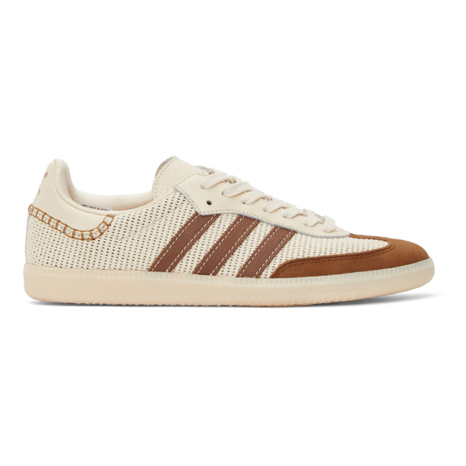Wales Bonner 灰白色 adidas Originals 联名 Samba 运动鞋