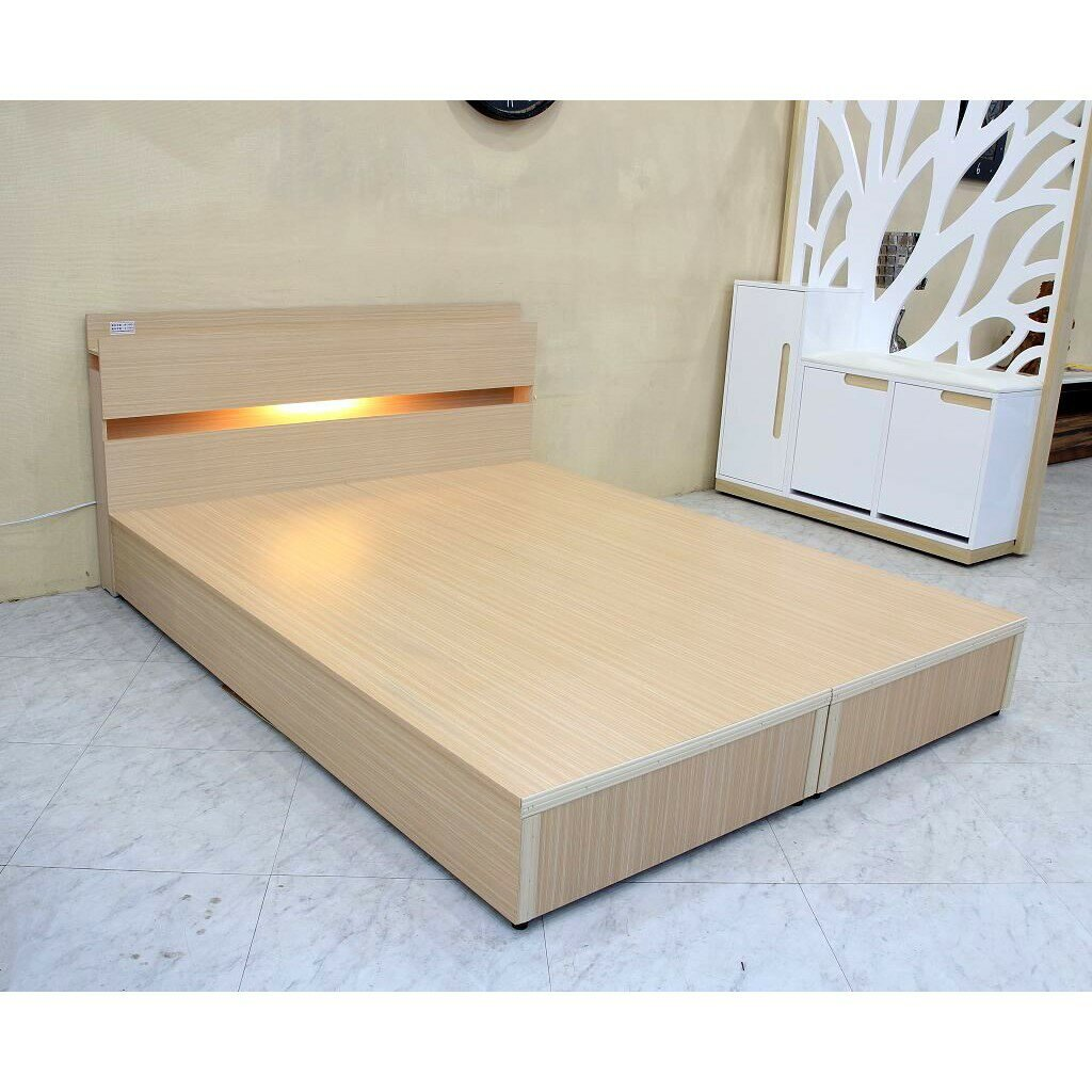 【歐風別館】五尺白橡色床頭+六分木心板床底【附插座可充電~多色可選~租屋套房~基隆至台中免運】