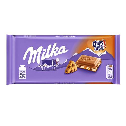 Milka奇寶餅乾牛奶巧克力100g【愛買】