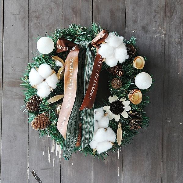 歲末清倉~聖誕禮品130 聖誕樹裝飾品 禮品派對 聖誕裝飾籐編花環