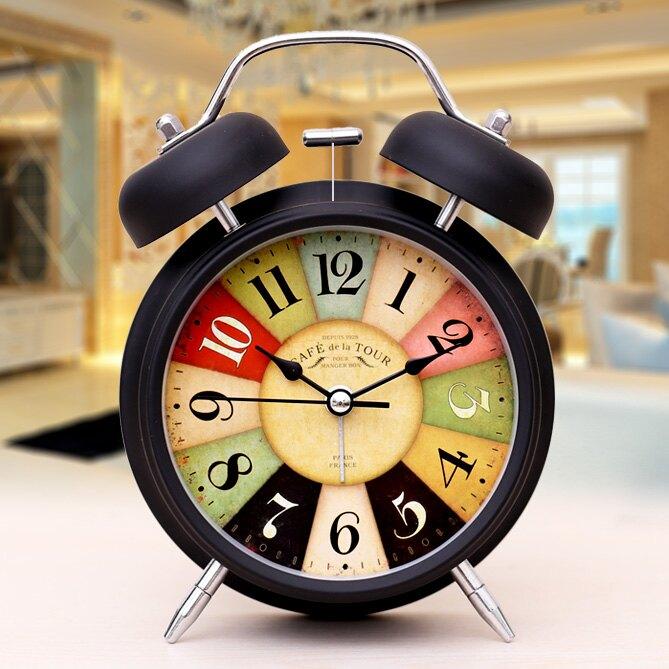 鬧鐘學生用床頭靜音創意夜光簡約臥室時尚兒童電子小鬧鐘
