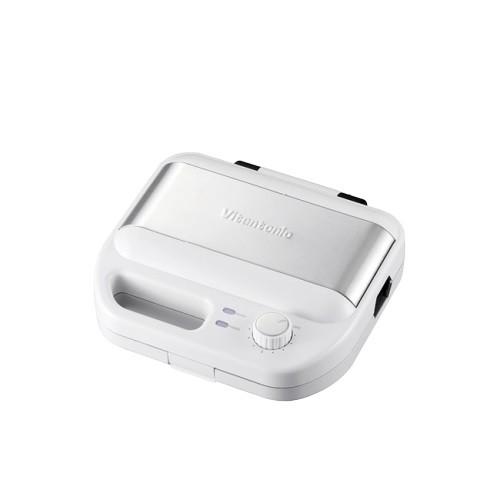 Vitantonio 鬆餅機VWH-500B 白色 可定時 自動斷電 內附 帕尼尼/方格 烤盤