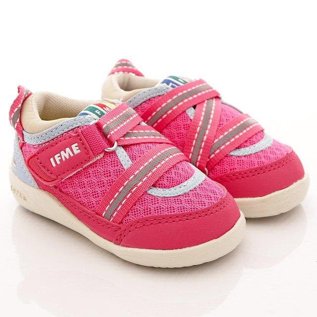 日本IFME健康機能童鞋-輕量寶寶學步鞋款-IF22-800033桃粉(中小童)SUPER SALE 樂天購物節