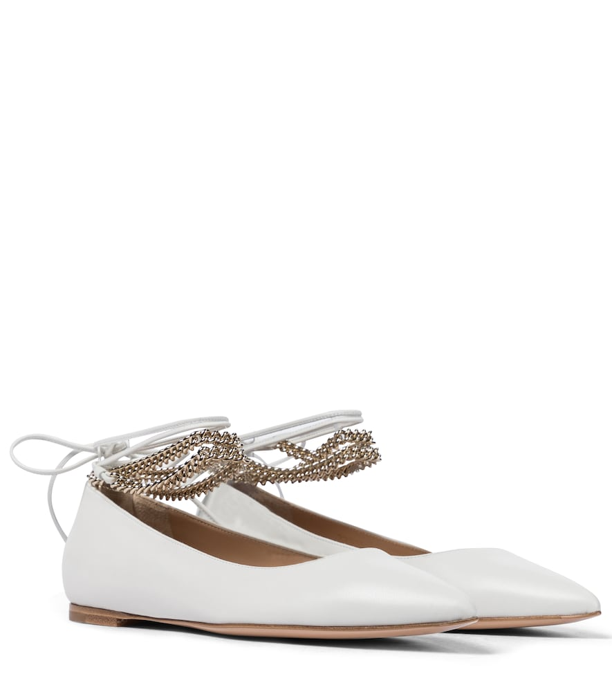 Angie embellished leather ballet flats
