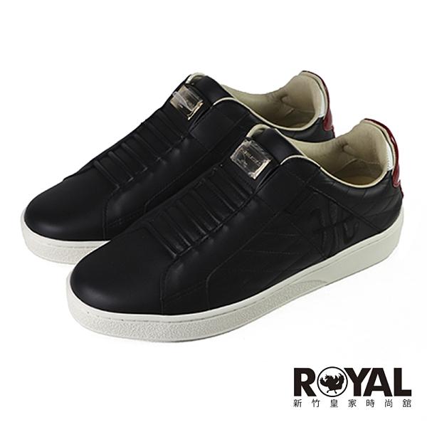 Royal Elastics Icon 黑色 皮質 套入 運動休閒鞋 女款 NO.J0673【新竹皇家 92503-910】