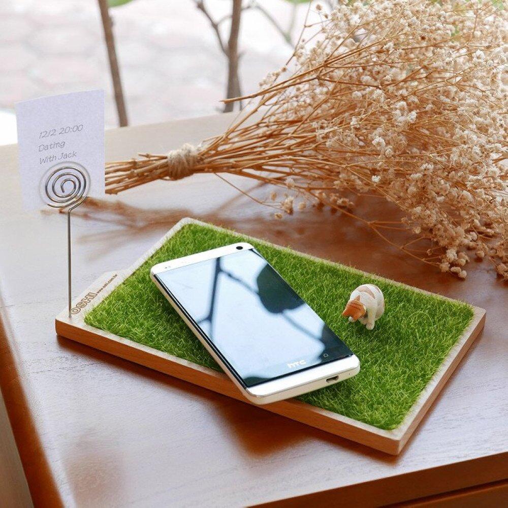 【福利品】歐士OSHI 輕草地置物盤/留言夾/收納盤/桌面整理/留言夾/療癒商品