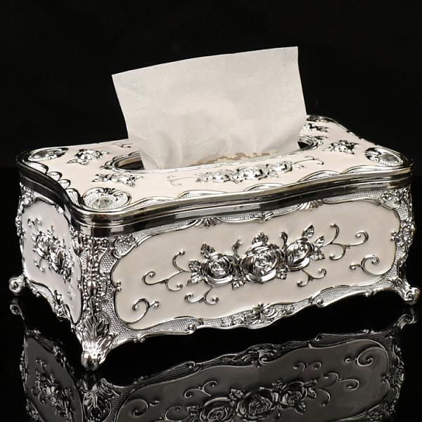 歐式紙巾盒客廳創意抽紙北歐ins家用紙抽盒KTV茶幾簡約高檔餐巾盒