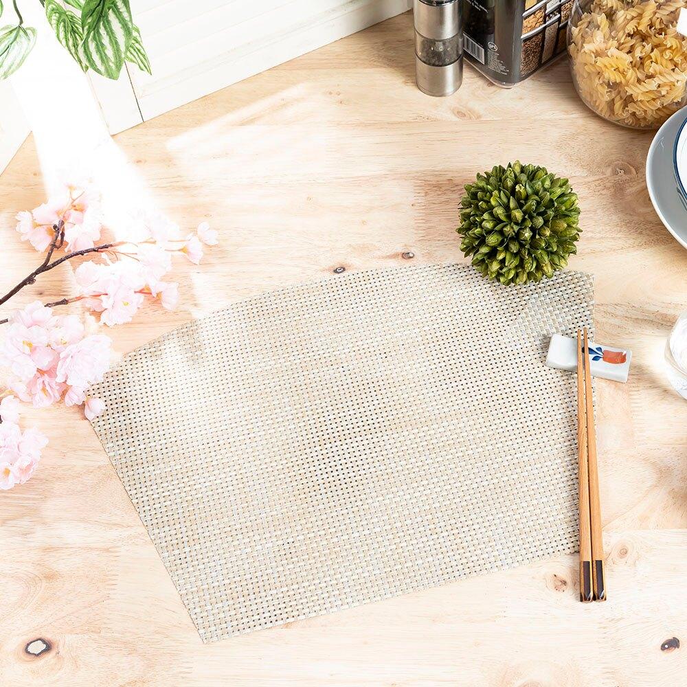 晨曦斑斕扇形編織餐墊-米45*30cm-生活工場